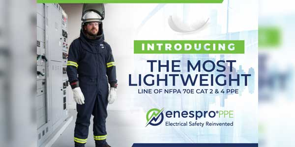 Enespro PPE Expands AirLite Line of Electrical Arc Flash PPE to Include 8, 12 and 40 Cals