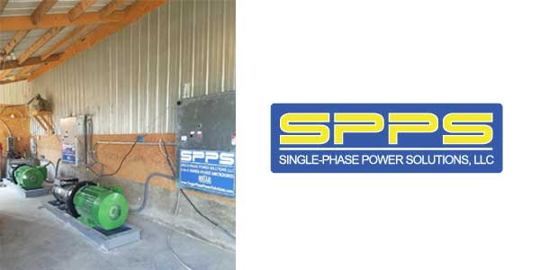 50 HP 1-to-3 Microgrid Power Source Powers Multiple 3-Phase Motors from Single Phase Utility Input
