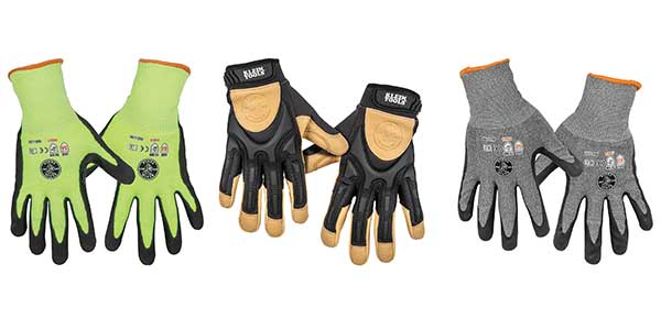Klein Tools Introduces New Line of Gloves Specialized to Professionals' Needs