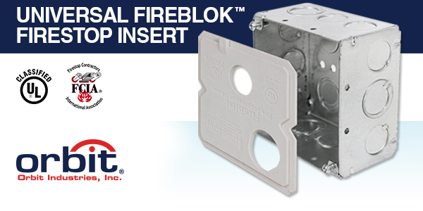 Replace Putty Pads with Orbit's New Firestop Inserts