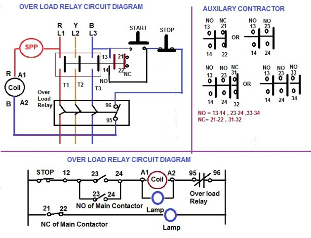Over Load Relay & Contactor for Starter | Electrical Notes