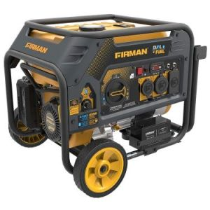 Roll over image to zoom in Firman H03651 4550-3650 Watt Electric Start Gas or Propane Dual Fuel Portable Generator