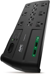APC Surge Protector Power Strip with USB Ports