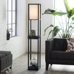 Adesso Parker Floor Lamp with 3 Storage Shelves