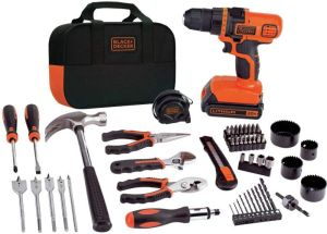 BLACK DECKER 20V MAX Drill & Home Tool Kit