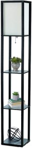 Simple Designs Home LF1014-BLK Etagere Floor Lamp