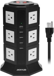 Surge Protector Power Strip Tower