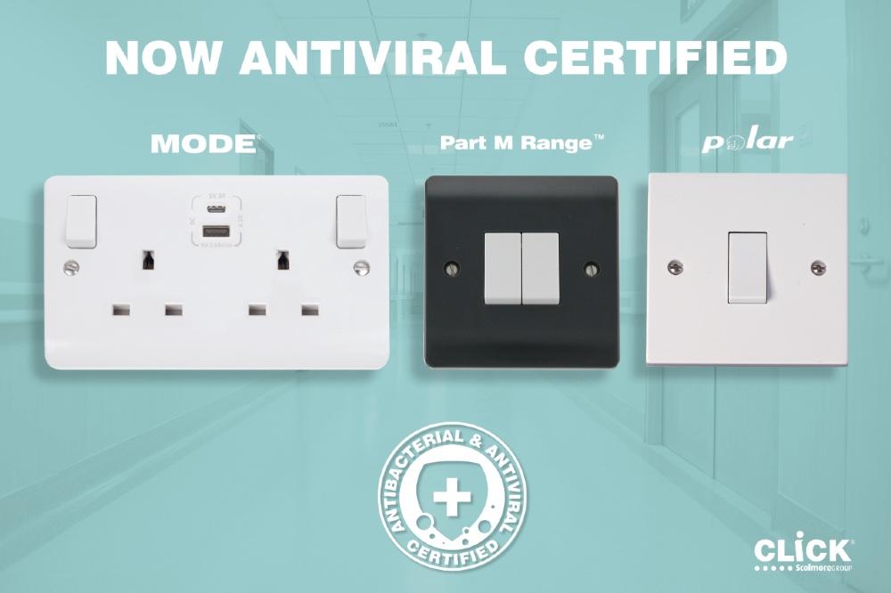 Scolmore anti-viral wiring accessories