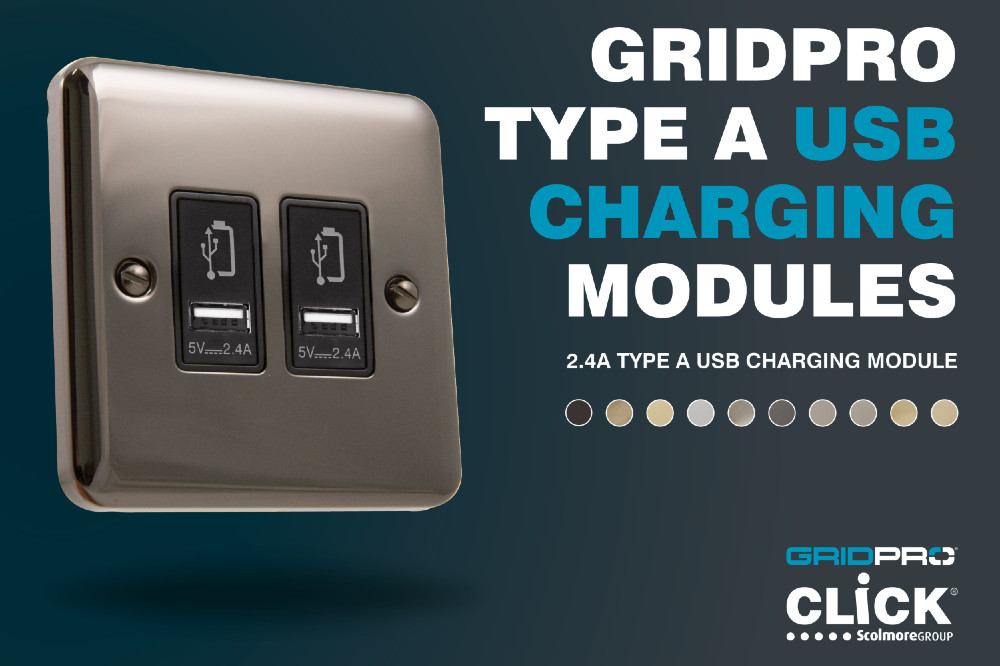 GridPro USB charging modules from Scolmore