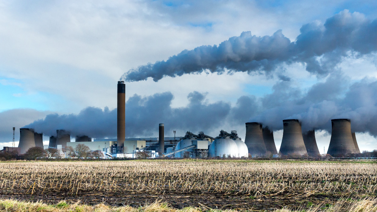 Drax Biomass Power Plant in Yorkshire