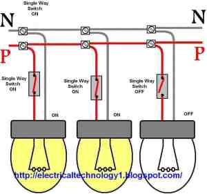 Wiring a light switch: control each lamp by separately switch