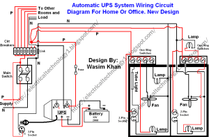 Automatic UPS system wiring circuit diagram (HomeOffice)