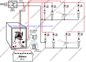 Automatic UPS System Wiring Diagram in Case of some items