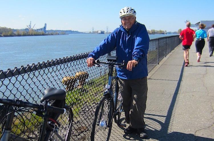 3 ways to Use an Electric Bike to Get Fit. Heart attack survivor Ron Wensel, who still gets a lot of exercise on his electric bike. Sports rehab