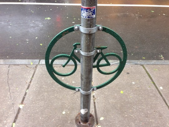 Creative bike locking structure in Philly.