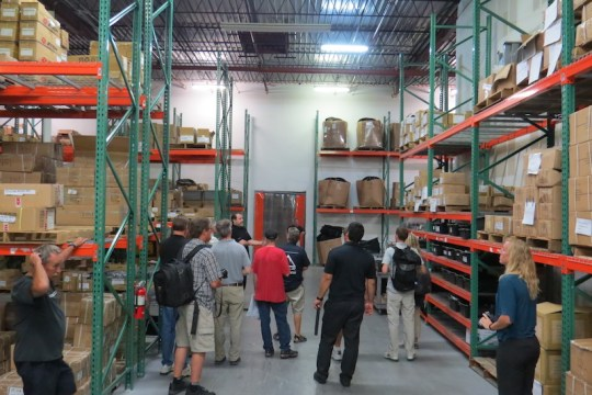 ProdecoTech has large warehouse storage for all of the parts that they keep in stock.
