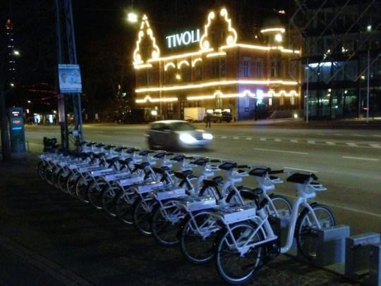 Copenhagen electric bike share program