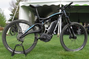 The Lapierre Overvolt electric mountain bike with Bosch mid drive system.
