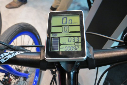 pedego ridgerider electric mountain bike display
