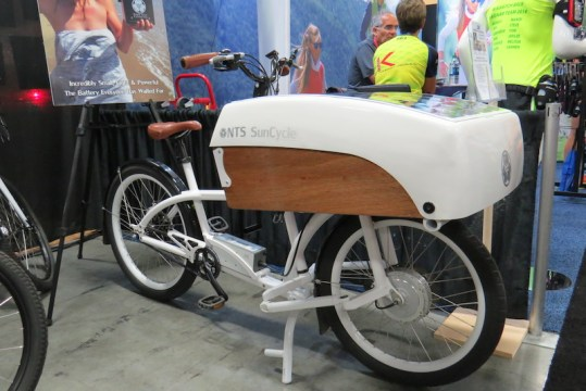 nts suncycle solar electric cargo bike