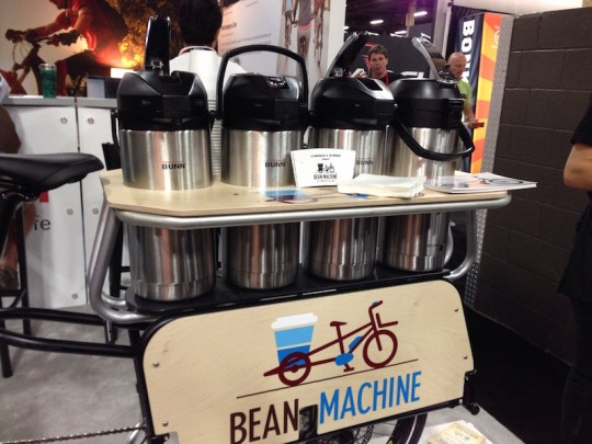 xtracycle bosh edgerunner electric cargo bike coffee machine
