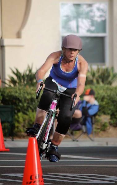 Rhonda Martin cycling
