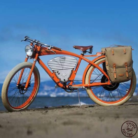 vintage e-tracker electric bike bags