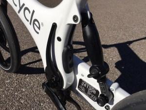 Gocycle rear suspension