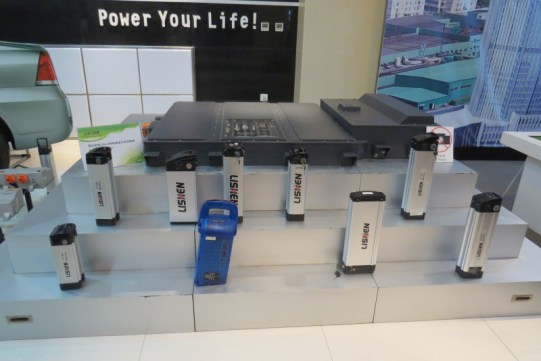 Lishen electric bike batteries and a car battery beyond