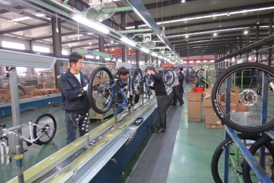 golden wheel bike assembly line