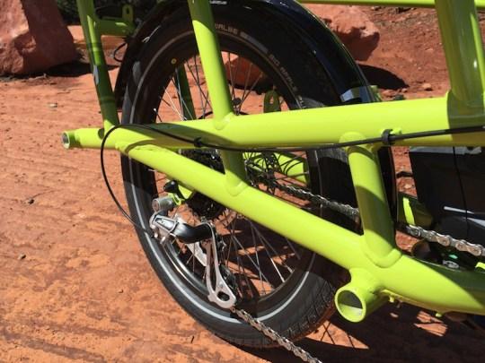 yuba spicy curry electric cargo bike gears