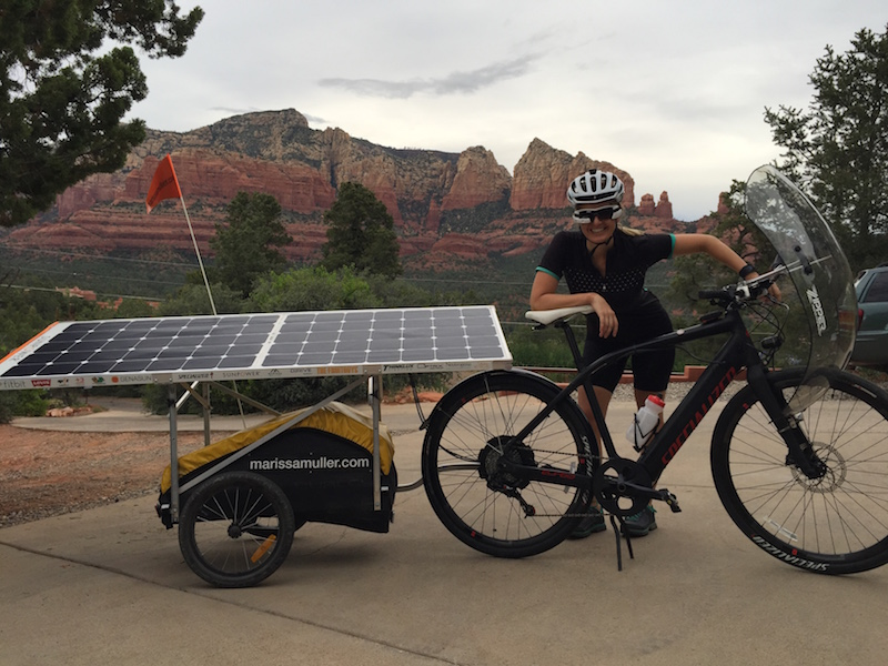 cross country solar electric bike adventure video. Black Bedroom Furniture Sets. Home Design Ideas