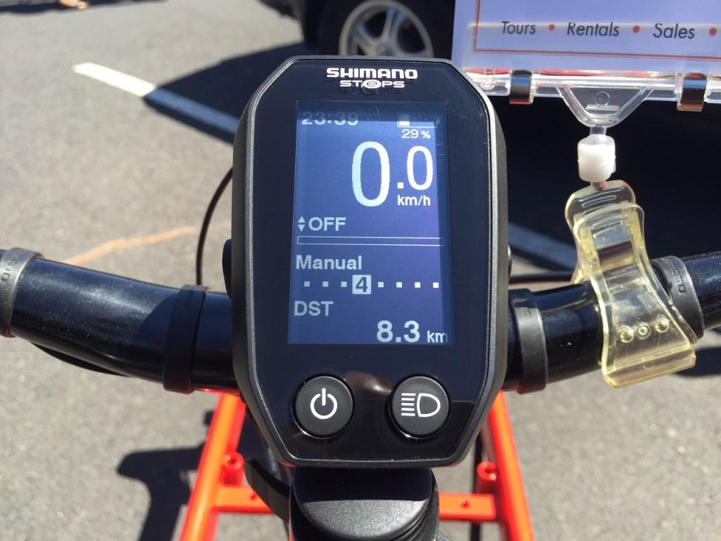 bullitt electric cargo bike shimano steps display