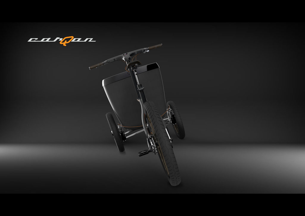 carQon electric cargo trike tilting