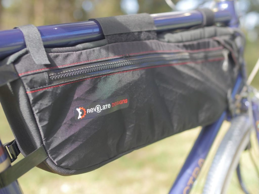Frame bag by Revelate Designs was perfect for holding all sizes of LEED batteries. It had some extra space for tools, phone and other essentials.