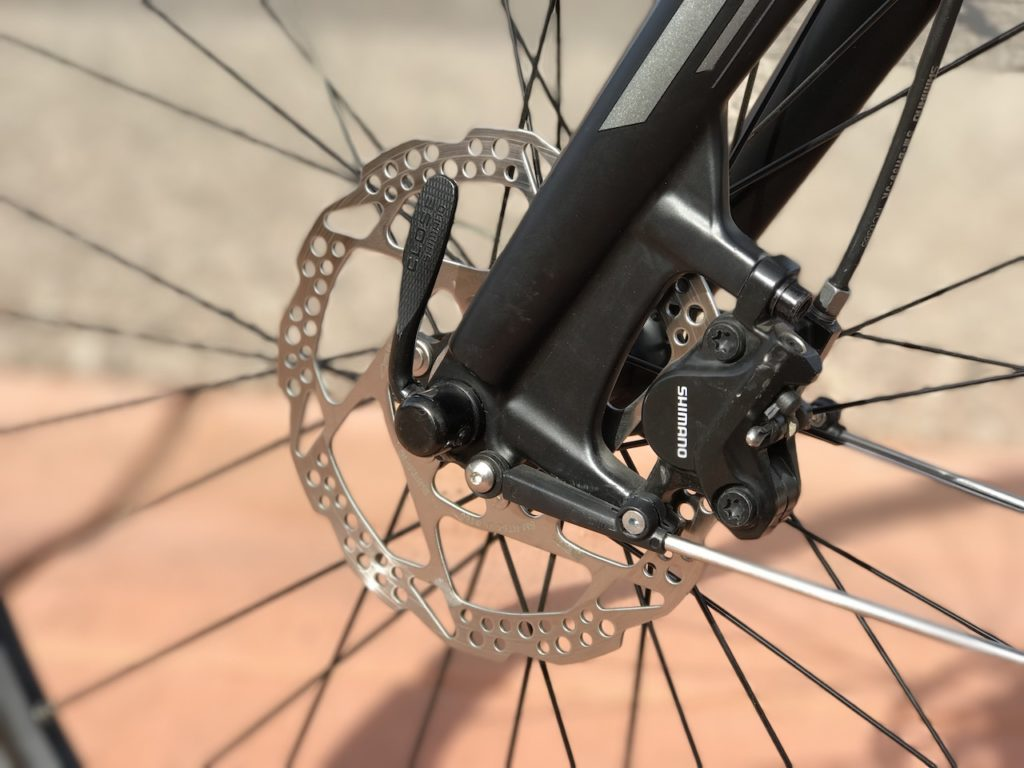 raleigh-misceo-ie-sport-electric-bike-front-brake