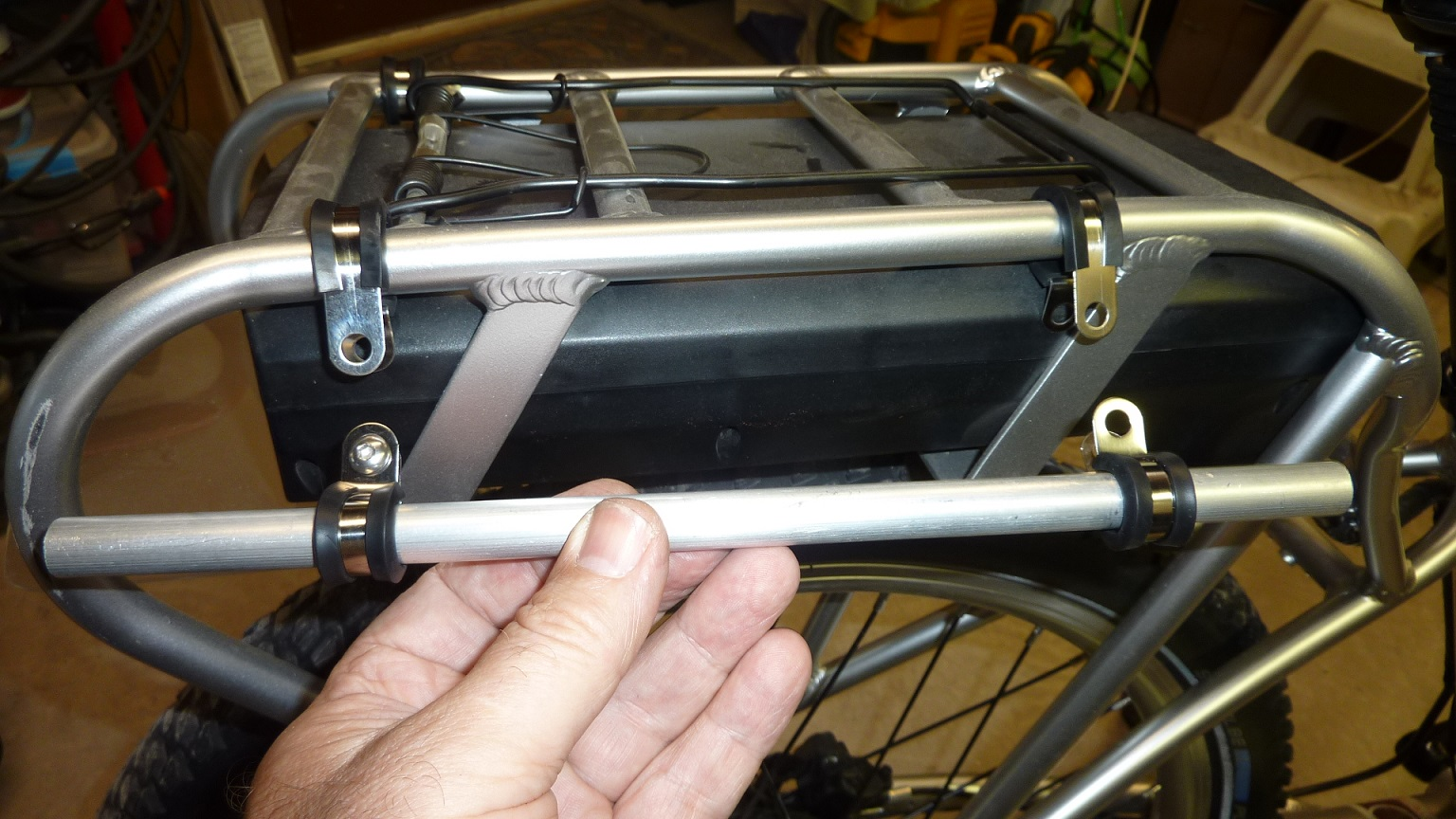 using panniers on a pedego rear rack