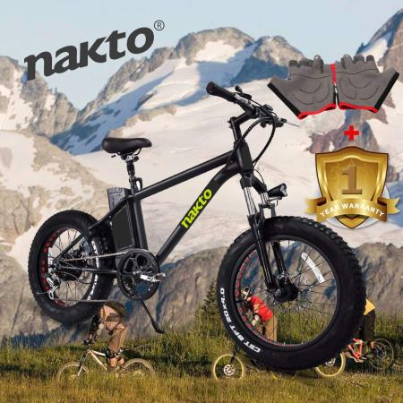 2213c7150d1 Nakto Electric Bicycle Fat Tire Mountain EBike-Power, Speed And Style...