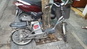 A bit bike-ish, but I reckon it would be awkward to pedal
