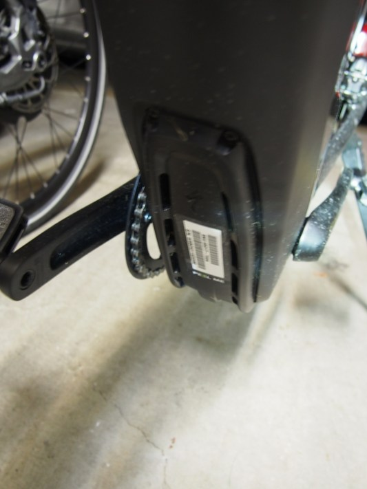 The motor has vents to keep it cool. The mudguard keeps muck and water out.