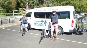 Dropped off at the start in Warburton