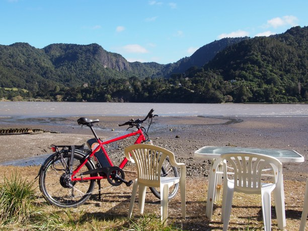 Opposite the Rd from the Huia Store