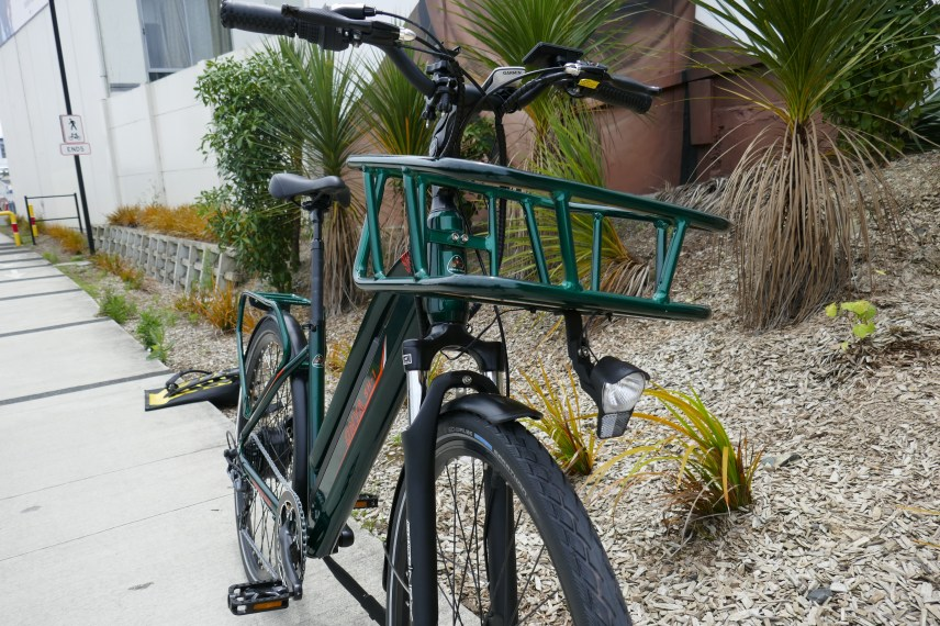 That big basket is solid and attaches to the head tube