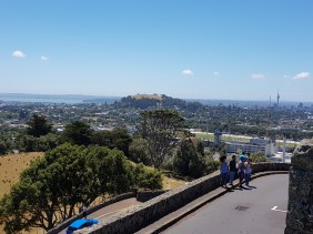 There isn't much space for walkers going up Maungakiekie - priority of for cars