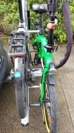 The bikes sit quite close together with 210mm spacing