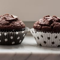 Rice milk & cocoa muffins