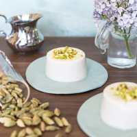 Vegan panna cotta with coconut milk and cardamom