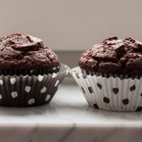 Rice milk & cocoa muffins