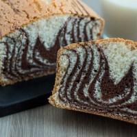 Oat cream-based zebra cake