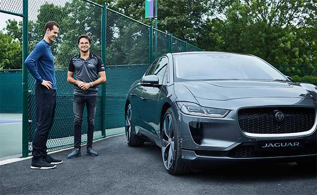 Andy Murray Goes Electric With Jaguar I-Pace